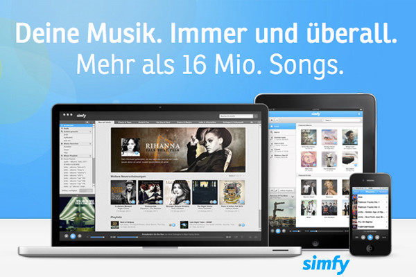 Screenshot simfy.de